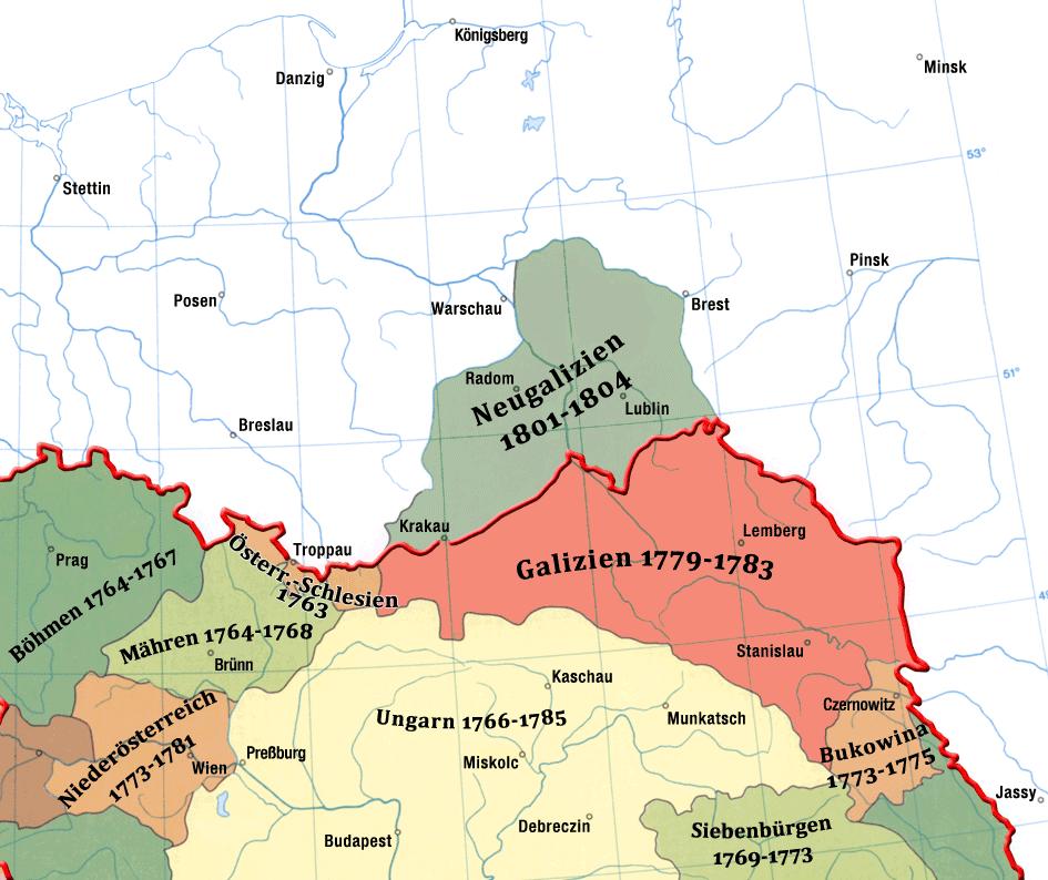 Schlesien Karte Heute.Karte Von Galizien 1779 1783